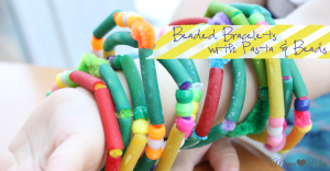 fancy fun: Beaded Bracelets with Pasta & Beads