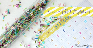 busy bag: Seek-N-Find Alphabet Tube