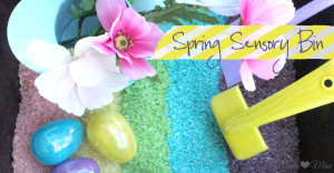 sensory: Spring Sensory Bin