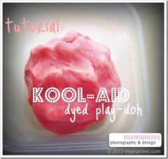 playdough: Kool-Aid Dyed Playdough