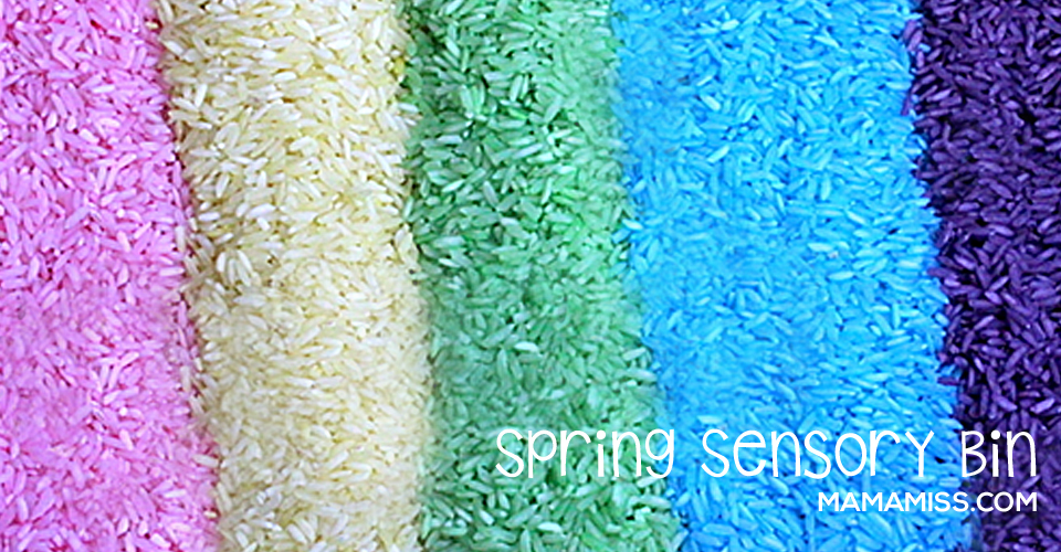 Spring Sensory Bin #spring #sensory - see the steps on @mamamissblog ©2012