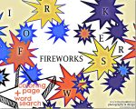 art & learning: Fireworks Coloring Page + Word Search