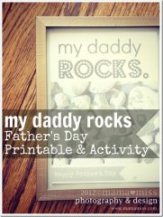 "fingers & toes: ""My Daddy Rocks"" Father's Day Activity & Printable"