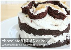 celebration: 1st Birthday Cake – Chocolate Vegan Cake with Homemade No-Fuss Whipped Cream