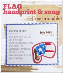 fingers & toes: Flag Handprint & Song