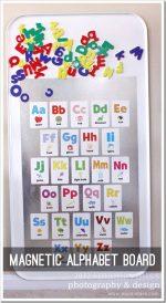 create kiddo: magnetic alphabet board