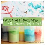 art & learning: Cave Man Drawings with Homemade Puffy Paint