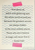 quote art: Roald Dahl