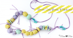 Bread Clay Beads & Necklace | @mamamissblog #crafts #kidcrafts #diy #bread #kidjewelry