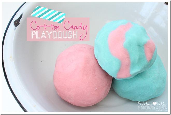 cotton candy playdough