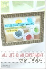 quote art: All Life Is An Experiment