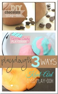 idea collage: Homemade Playdough 3 Ways