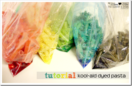 Dyeing pasta in Kool-Aid