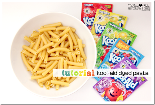 Pasta and Kool-Aid packets