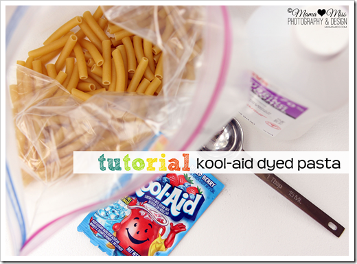 Pasta and Kool-Aid packet