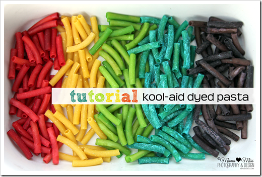Kool-Aid dyed pasta final product