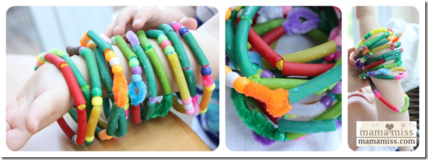 Beaded Bracelets with Pasta & Beads