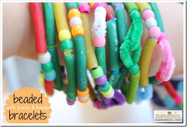 Beaded Bracelets with Pasta & Beads
