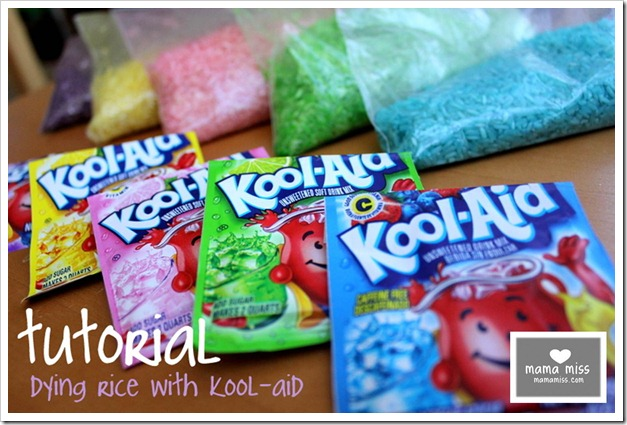 kool aid dyed rice