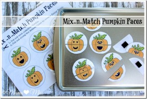 busy bag: Mix-n-Match Pumpkin Faces