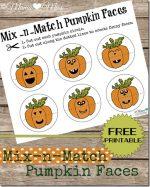 busy bag: Mix-n-Match Pumpkin Faces