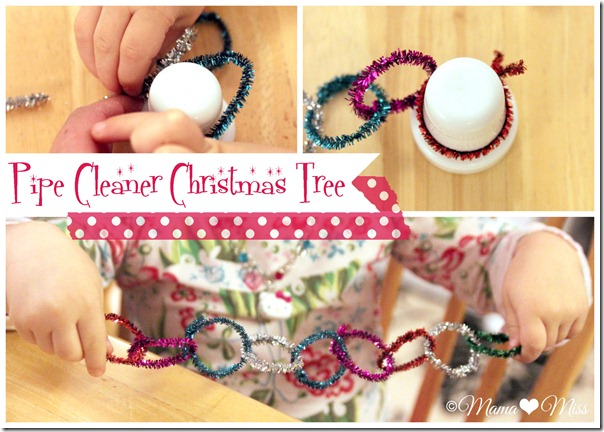 Pipe Cleaner Christmas Tree {mama♥miss} ©2012