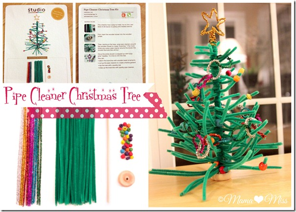 pipe cleaner christmas tree mamamiss 2012 - Pipe Cleaner Christmas Tree