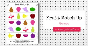 Fruit Match Up Games | @mamamissblog #freeprintable #homeschool #counting #preschool