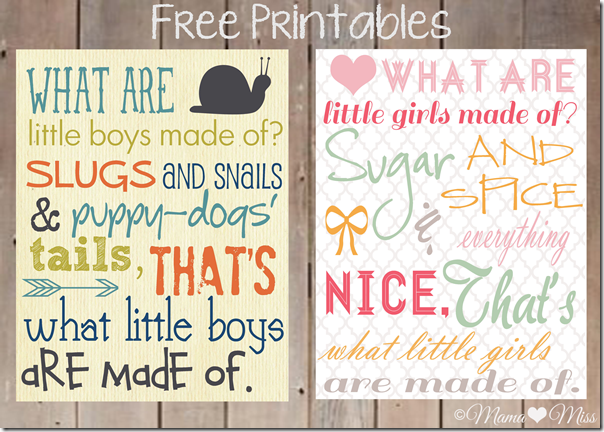 "Free Printable Subway Art ""Little Boys & Little Girls"" #facebook #freeprintable {mama♥miss} ©2012"
