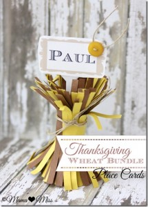 create: Thanksgiving Wheat Bundle Place Cards