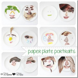 kiddo craft: Paper Plate Portraits