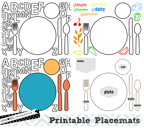 photograph about Free Printable Thanksgiving Placemats called Thanksgiving Placemats no cost printable - mama♥overlook