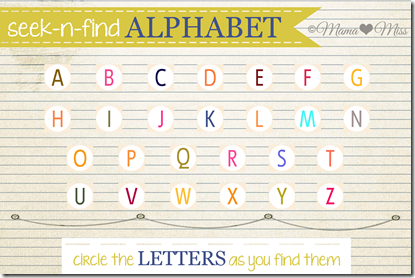seek and find alphabet tube copyright