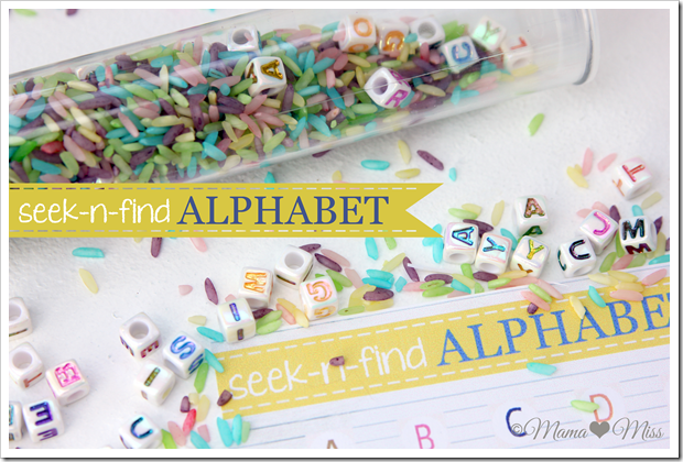 seek and find alphabet tube