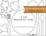 play & eat: Thanksgiving Placemats {free printable}