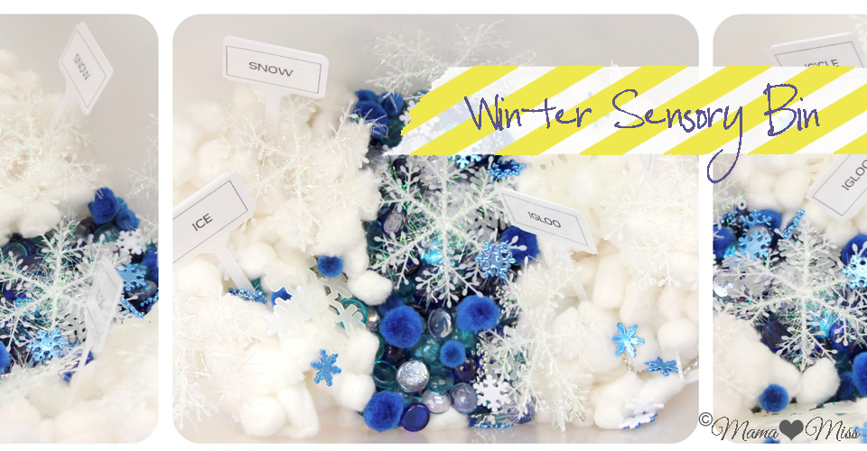 Winter Sensory Bin With Word Recognition Mama Miss