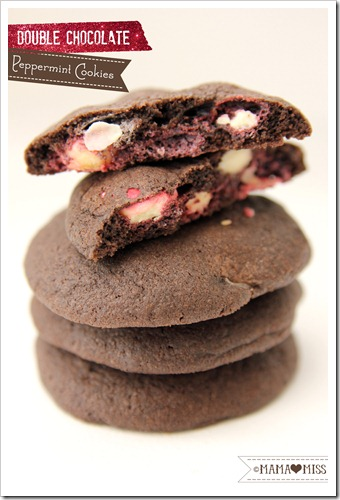 Double Chocolate Peppermint Cookies {mama♥miss} ©2012