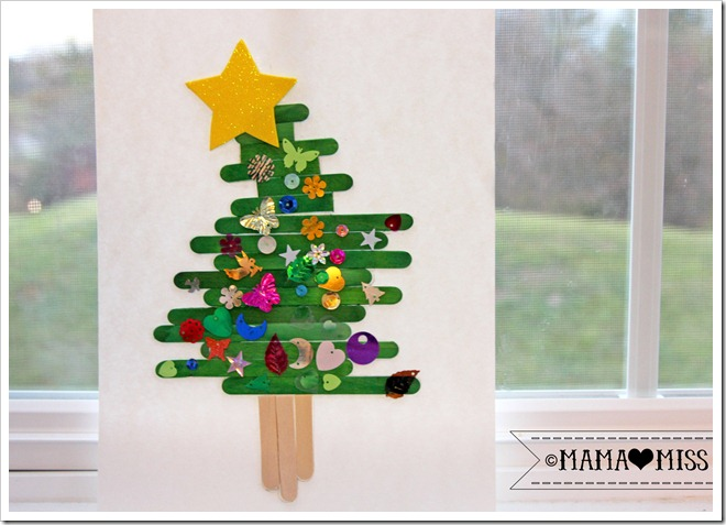 Popsicle Stick Christmas Tree {mama♥miss} ©2012