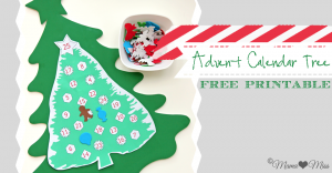 Advent Calendar Tree Printable {mama♥miss} ©2012