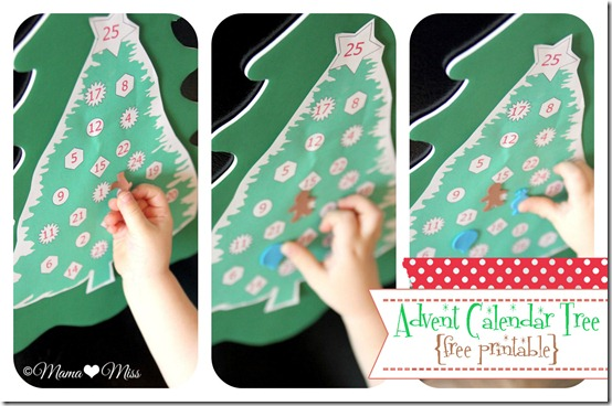 Advent Calendar Tree {mama♥miss} ©2012