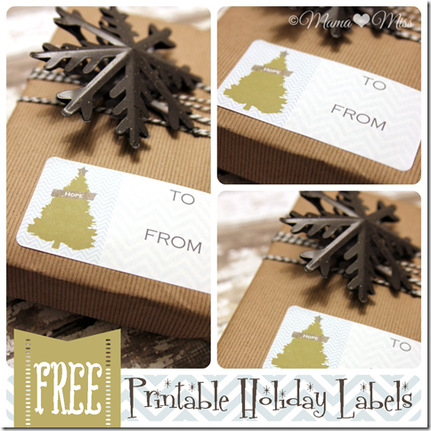 Printable Holiday Gift Labels {mama♥miss} ©2012