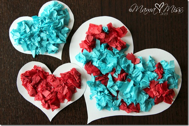 Magnetic Tissue Paper Hearts {the studio} http://www.mamamiss.com ©2013