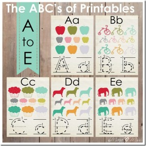 KBN Series: The ABC's of Printables from A to E