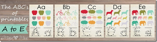 The ABC's of Printables: letters A-E {mama♥miss} ©2013