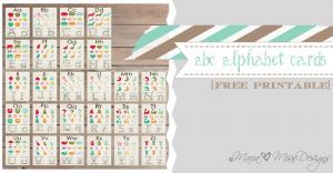 Alphabet Cards - Custom Designed Free Printables {www.mama♥miss.com} ©2013