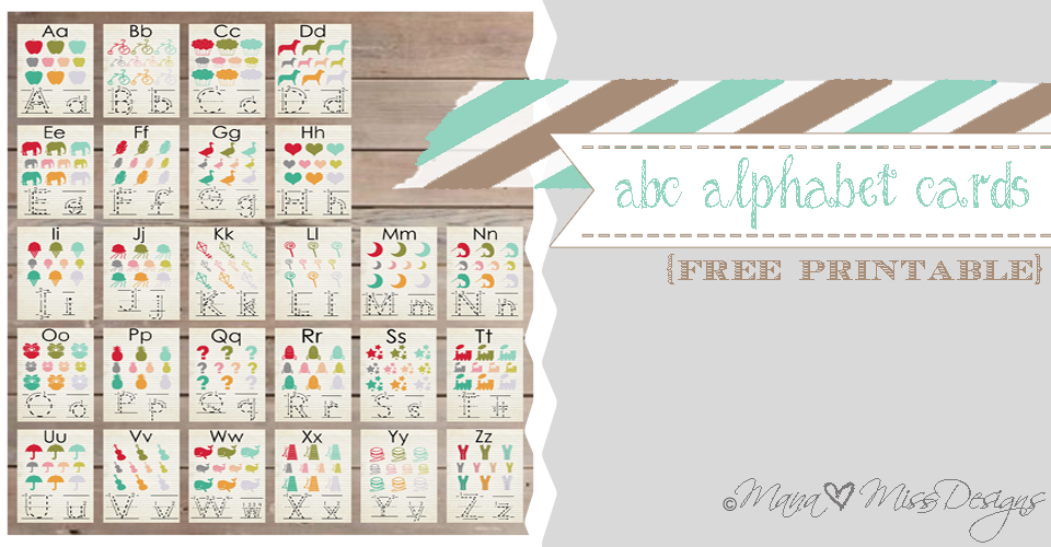 photograph relating to Abc Cards Printable called Alphabet Playing cards - Custom made Constructed Totally free Printables