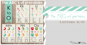 KBN Series: The ABC's of Printables from K to O