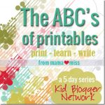 The ABC's of…a 5-day series from the Kid Blogger Network