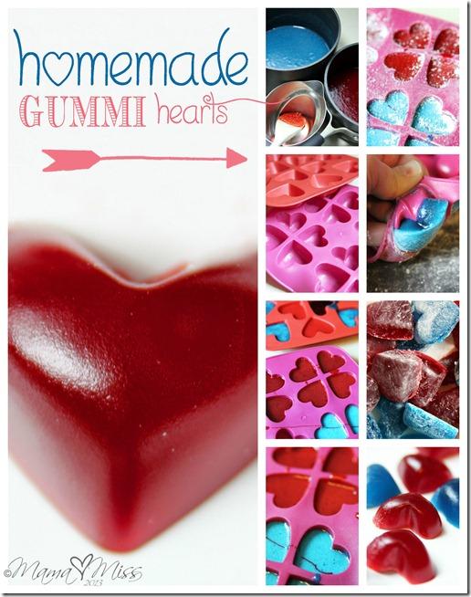 Homemade Gummi Hearts http://www.mamamiss.com ©2013