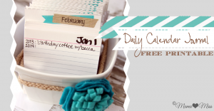 diy: Daily Calendar Journal